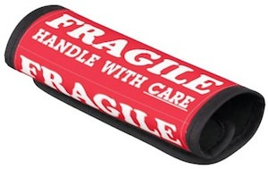 Fragile Handle With Care Bag Handle Wrap