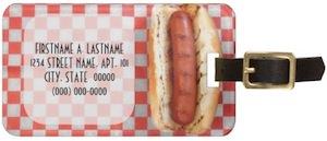 Hot dog luggage tag