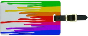 Paint streaks luggage tag