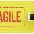 Yellow Fragile Luggage Tag