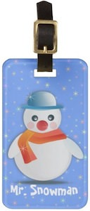 Mr. Snowman Luggage Tag