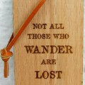 Wooden Laser Engraved Luggage Tag