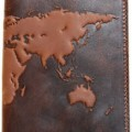 Premium Leather World Map Passport Cover
