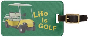 Life Is Golf Personalized Luggage Tag