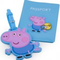 Peppa Pig Passport Holder And Luggage Tag Set