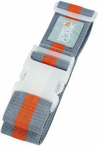 Leiws N. Clark Grey And Orange Luggage Belt