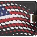 Spotty US Flag Luggage Tag