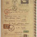 Vintage Envelope Style Passport Cover