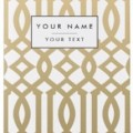 Personalized Gold Trellis Passport Cover