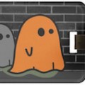 Halloween Ghosts Luggage Tag