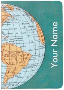 Personalized World Map Passport Cover