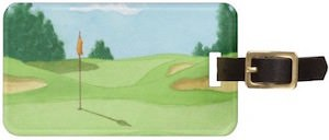 Golf Course Luggage Tag