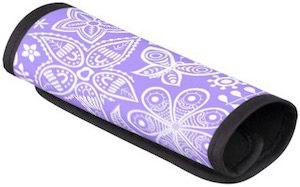 Purple Handle Wrap With Groovy Flowers