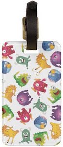 Colorful Monsters Luggage Tag