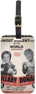 Hillary Clinton And Donald Trump Boxing Match Luggage Tag