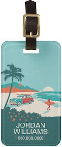 Surf's Up Luggage Tag