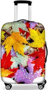 Fall Leaves Suitcase Cover
