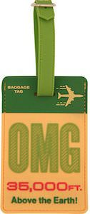 OMG 35000 Feet Above The Earth Luggage Tag