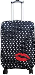Polka Dots And Red Lips Suitcase Cover