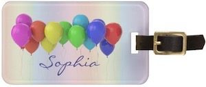 Personalized Balloons Luggage Tag