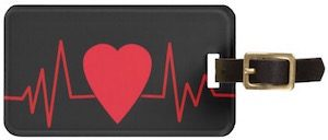 Heart Beat Luggage Tag