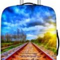 Train Tracks Suitcase Cover