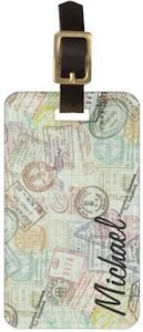 Passport Stamps Personalized Luggage Tag
