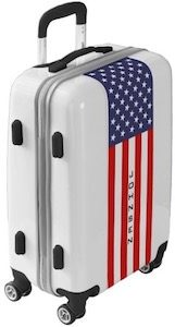 American Flag Suitcase That Also Has Your Name On It