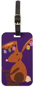 Funny Easter Bunny Luggage Tag