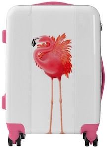 Pink Flamingo Suitcase