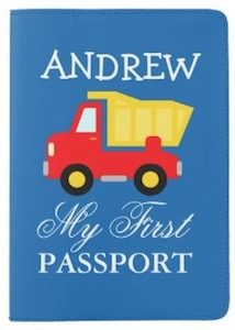 Dump Truck Personalized Passport Cover