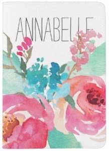 Watercolor Personalized Passport Cover