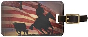 American Cowboy Luggage Tag