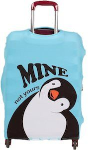 Penguin Mine Not Yours Suitcase Cover