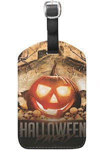 Halloween Pumpkin Luggage Tag