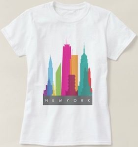 New York City Colorful Skyline T-Shirt