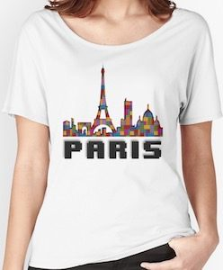 Paris Skyline In Bricks T-Shirt