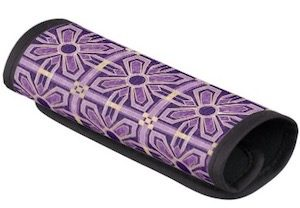 Purple Art Deco Flower Handle Wrap
