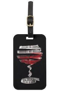 Sliced Wine Glass Luggage Tag