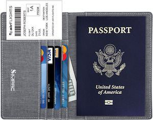 Fabric Passport Cover WIth RFID Blocker