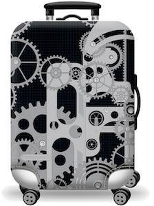 Gears Suitcase Cover