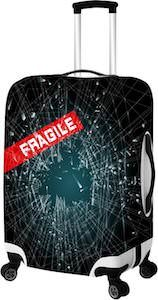 Fragile Broken Glass Suitcase Cover