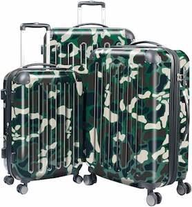 Camouflage Suitcase Set