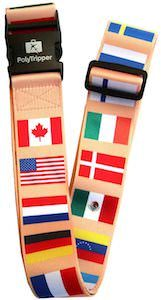 Flags Of The World Luggage Strap