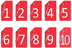 Numbered Luggage Tags