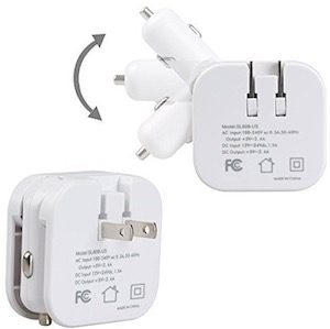 USB Travel Charger For Home And Car