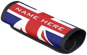 Personalized Union Jack Handle Wrap
