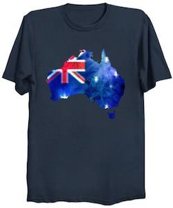 The Map Of Australia And The Flag T-Shirt