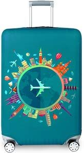 Fly Around The World Suitcase Cover