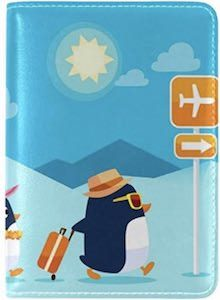 Traveling Penguins Passport Cover
